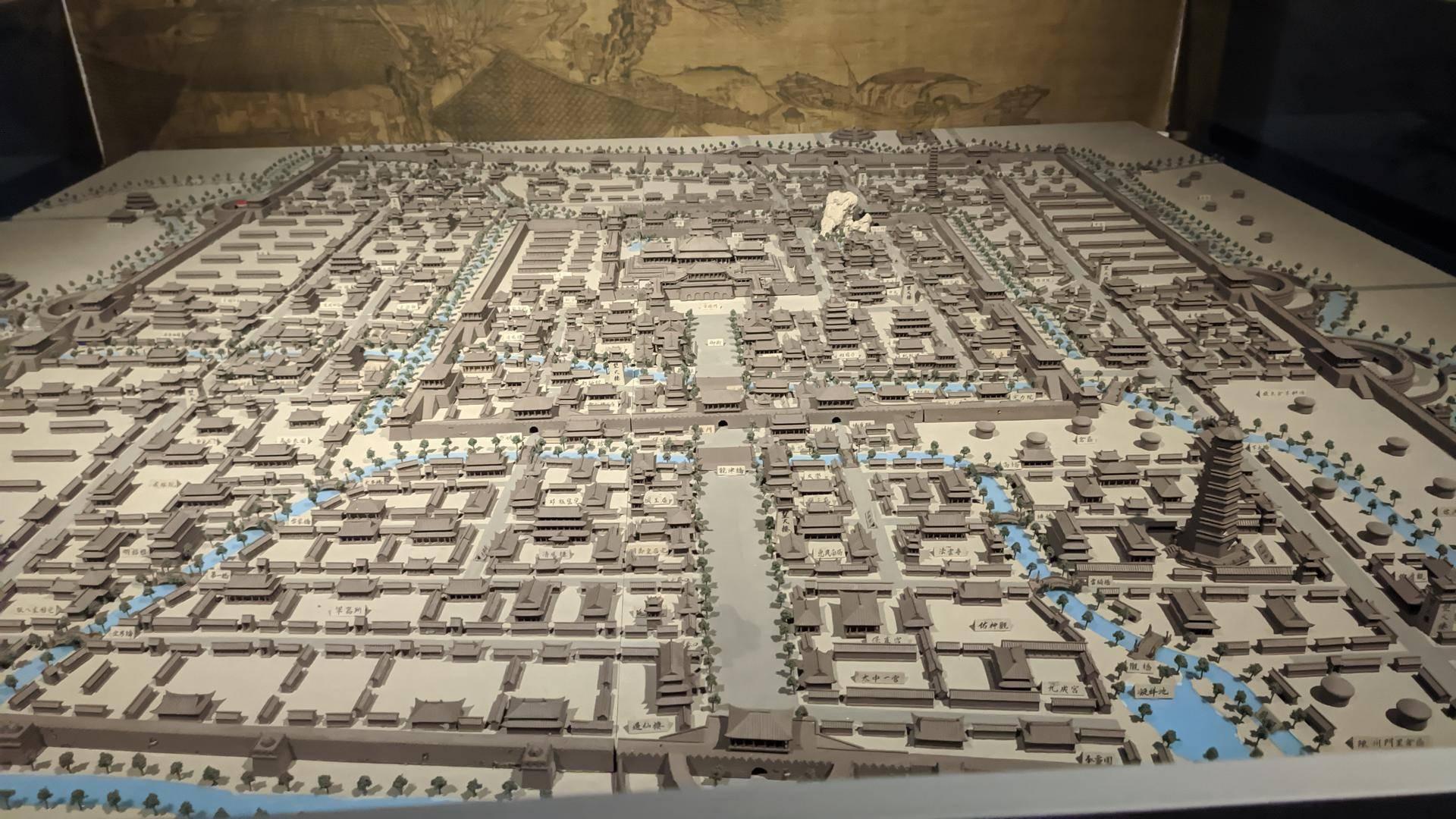 宋东京城复原图整体